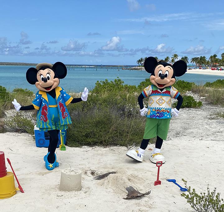 Mickey and Minnie on Castaway Cay
