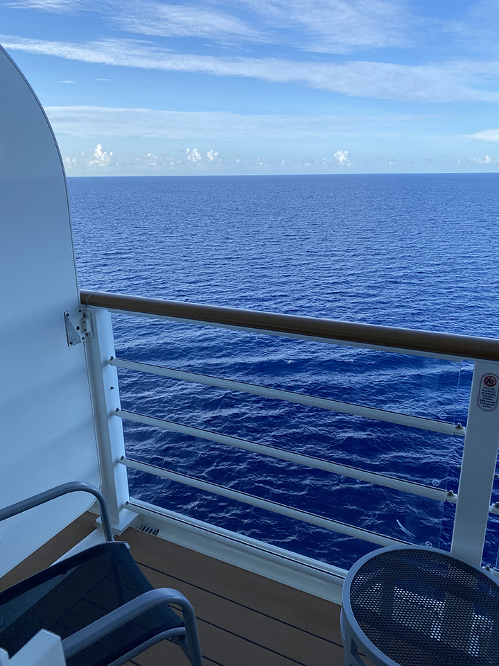 View from our Verandah Stateroom